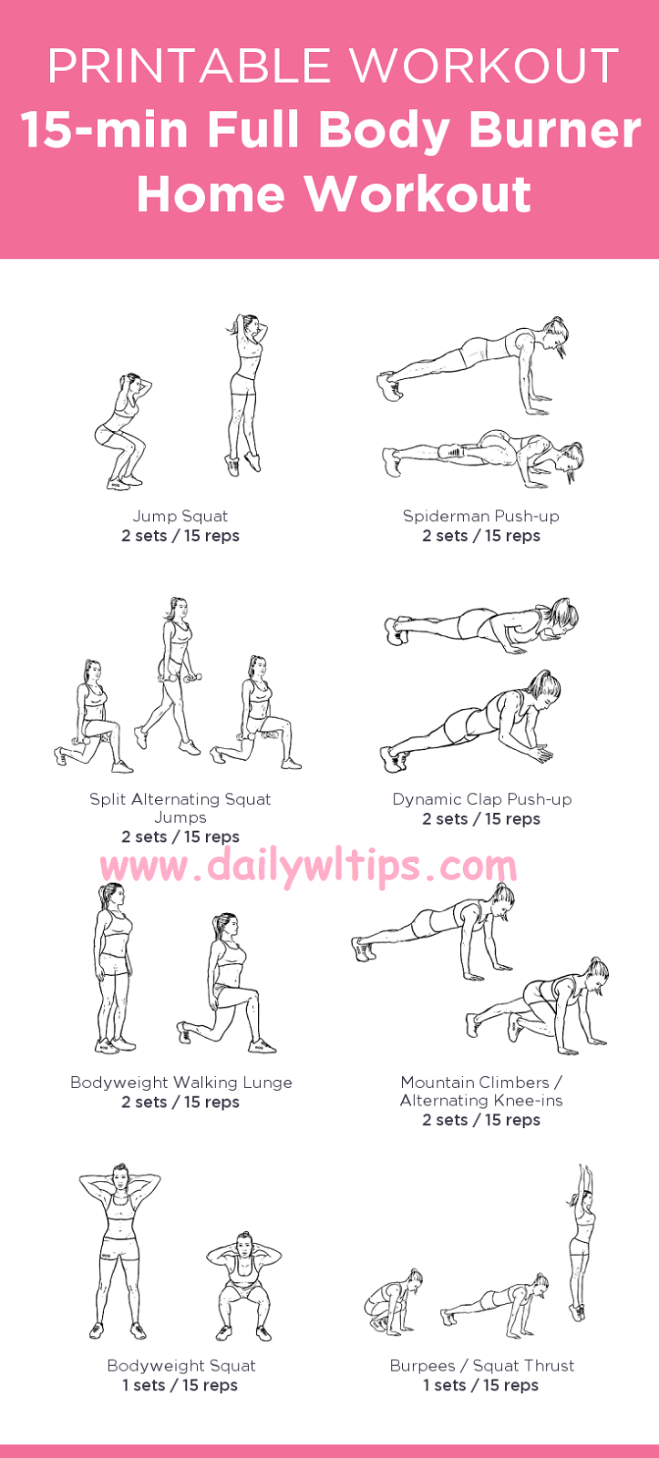 Home Workout Plans Fat Burning