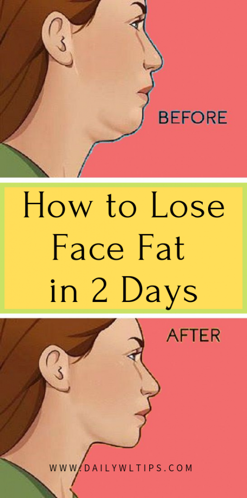 How to Lose Face Fat in 2 Days