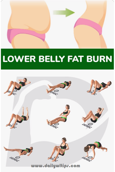 Lower Belly Fat Burn Exercises